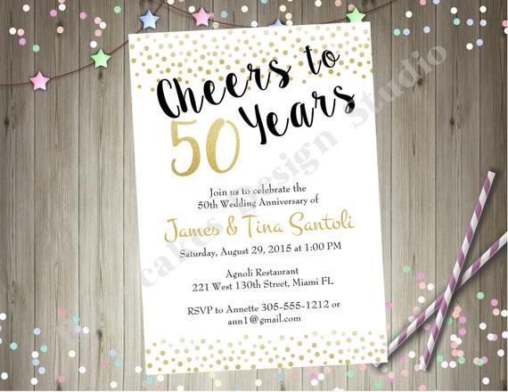 50th Wedding Anniversary Invitation Invite 50th Anniversary Etsy