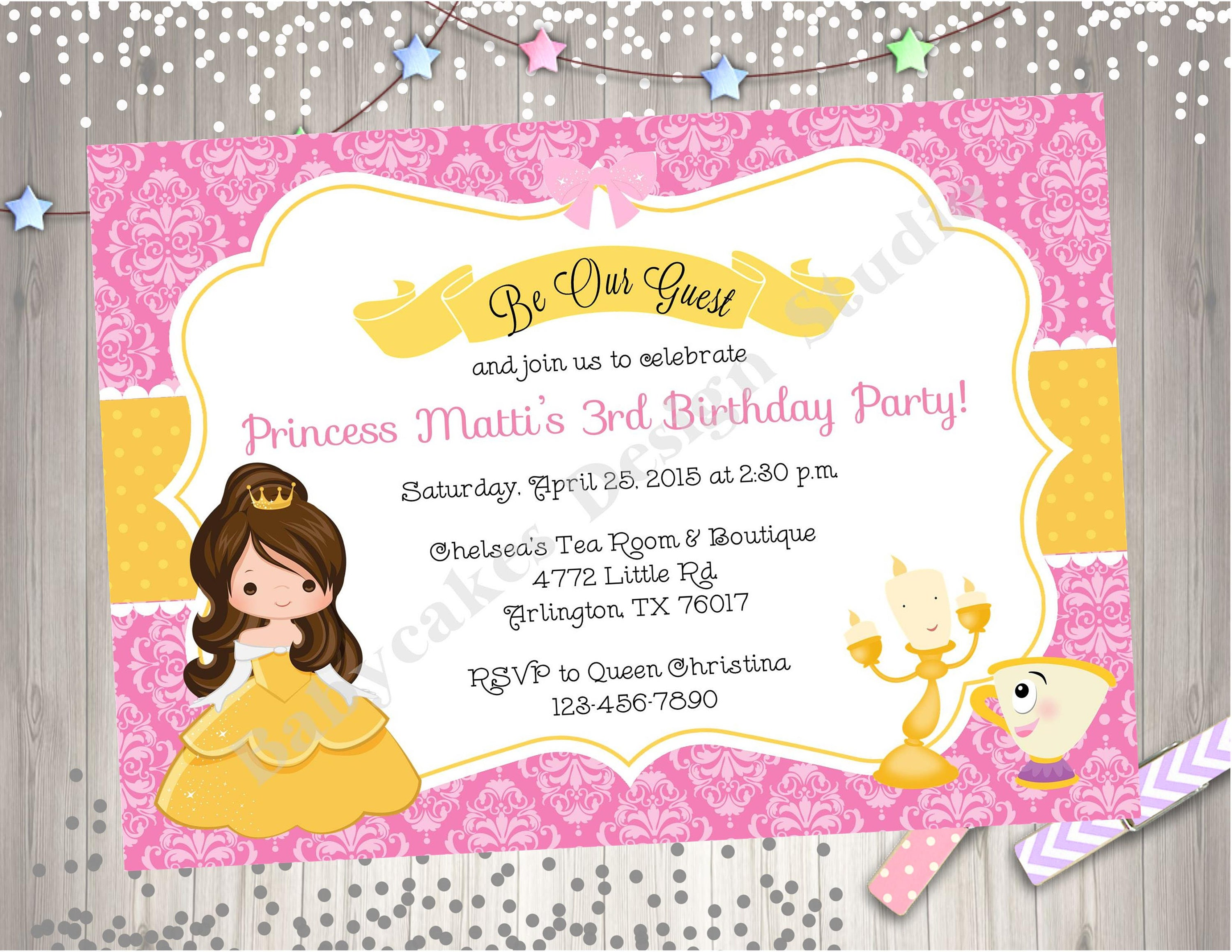 Belle invitation belle birthday princess belle birthday etsy zoom filmwisefo