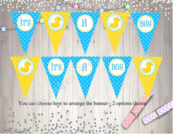 Rubber Ducky Banner Instant Dowload Diy Print Your Own By