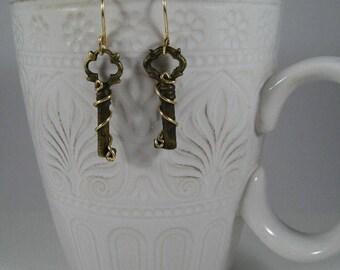 Tiny Key Earrings