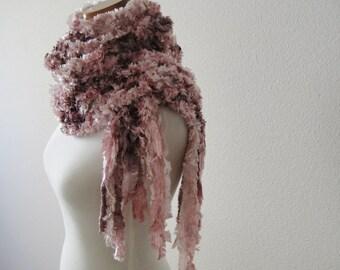 Pink  Fuzzy Scarf