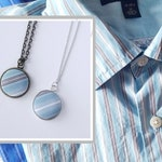 CUSTOM LISTING from Upcycled Clothing, Sentimental Gifts from Loved Ones Clothes, Pendant Necklace, Bracelet