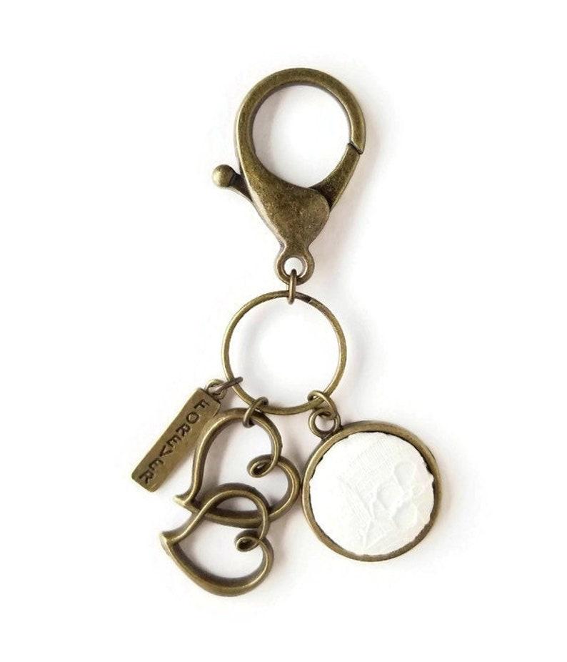 Wedding Day Keychain Gift Idea Double Hearts