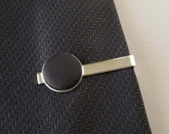 Silk Tie Bar, 12th Anniversary Gift Ideas for Husband, Novelty Tie Clip