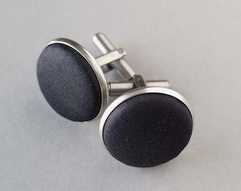 Silk Cufflinks, 12th Anniversary Gift Ideas for Husband, Novelty Cuff Links for Him