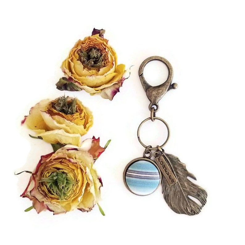 Personalized Keepsake Keychain using Your Loved Ones' Feather