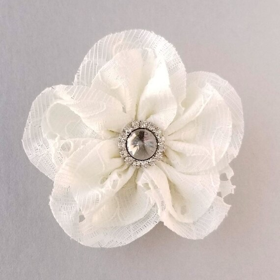 Lace Lapel Pin Ivory Flower Brooch Traditional 13th Wedding Etsy