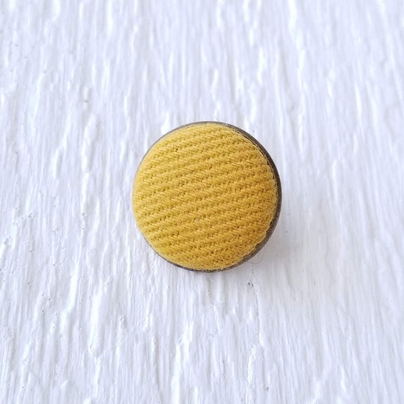 Mustard Yellow Small Boutonniere Mens Lapel Pin Simple image 0