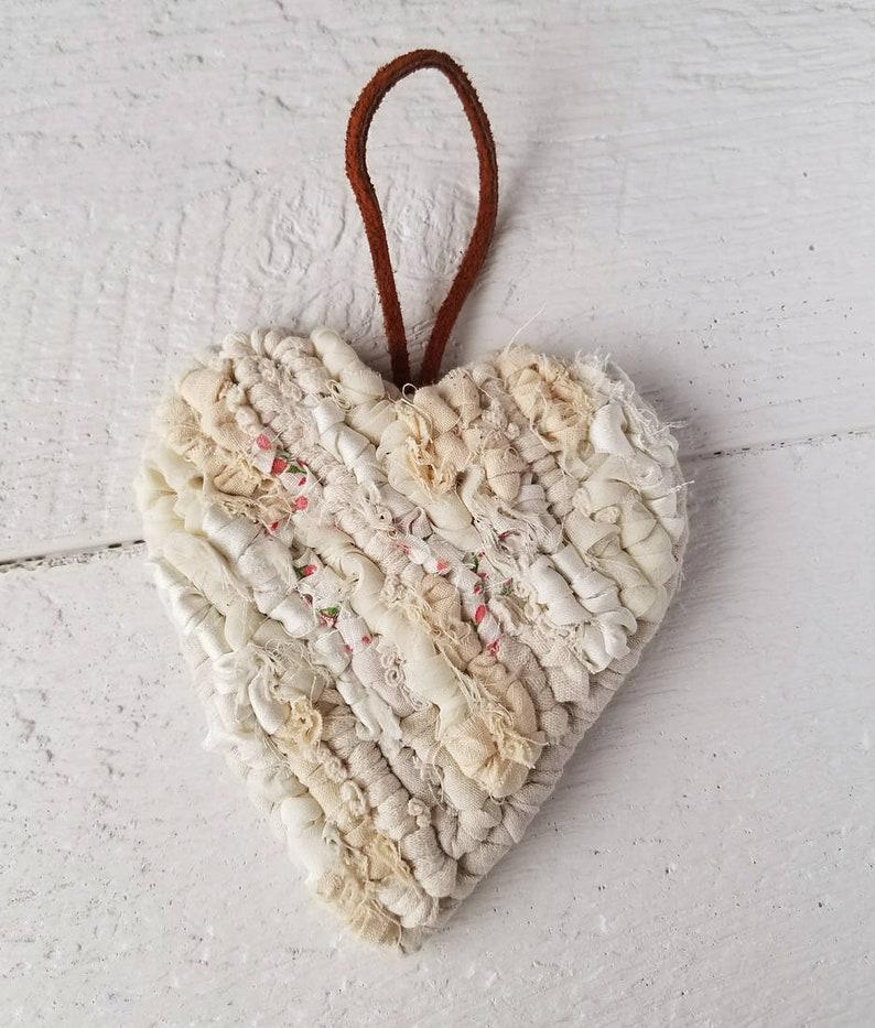 A Piece of My Heart Home Decor Locker Hooked Fabric Heart image 0