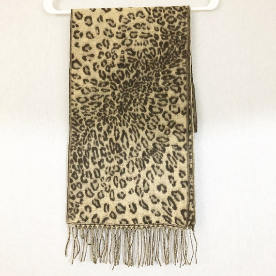 Cashmere Animal Print Scarf, Made in Scotland - image 5