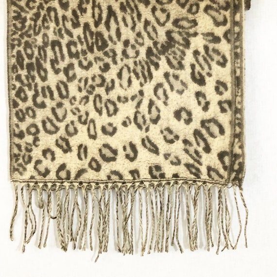 Cashmere Animal Print Scarf, Made in Scotland - image 2