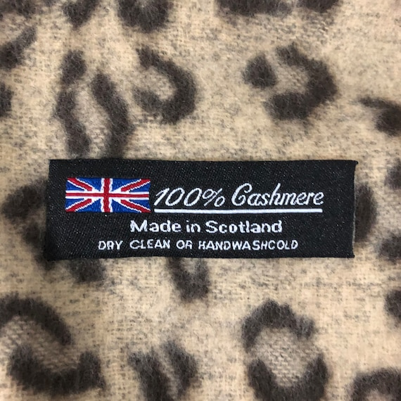 Cashmere Animal Print Scarf, Made in Scotland - image 4