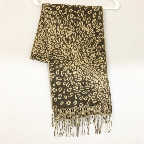 Cashmere Animal Print Scarf, Made in Scotland - image 3