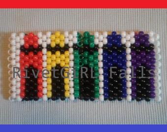 Raver S Transparent 3d Rainbow Kandi Cuff Etsy