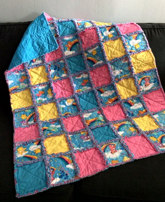 Finding Nemo Baby Rag Quilt Handmade One Of A Kind Baby Rag Quilt Baby Crib Nursery Shabby Chic Quilt