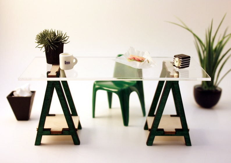 Phenomenal Miniature Ikea Inspired Vika Desk Kit For 1 12 Scale Modern Dollhouse In Wood Download Free Architecture Designs Scobabritishbridgeorg