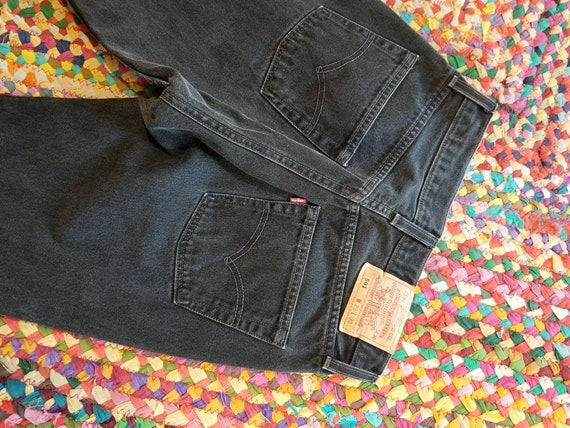 Vintage levis 501s faded black button fly size 29
