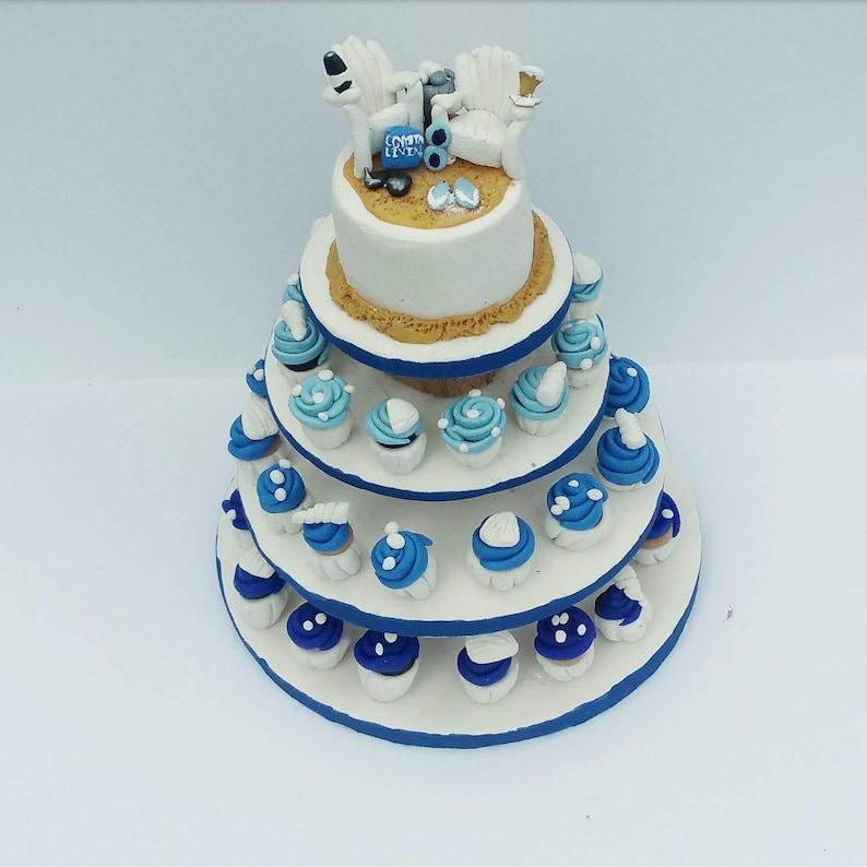 first christmas Wedding Cake Replica anniversary Gift wedding cake replica Newlywed Cupcake Cake Replica Detailed Wedding Cake Ornament