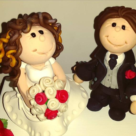 Cake Topper Custom Wedding Bride and Groom Cake Toppers
