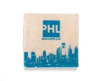 City Skyline with Company Logo Coasters (Custom Stone Coasters with Business Logo) Corporate Gifts - Business Promo - Company Favors