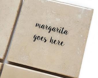 Margarita Stone Coaster (Boozy Drink Gift) Stocking Stuffer