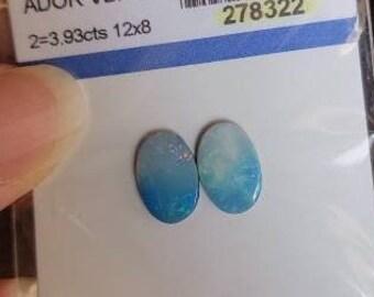 Doublet Opal Pair 12x8 Cabochon