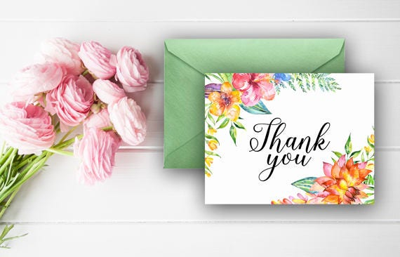 Aloha Thank You Cards Luau Thank You Notes Baby Shower Thank You