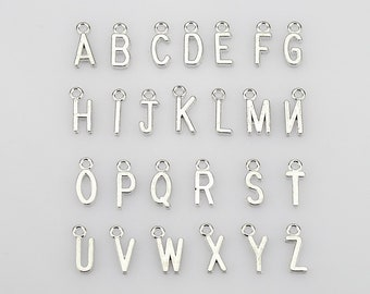 10 Number Charms Antiqued Silver 0-9 Pendants Italic Font Findings