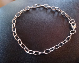 Charm Bracelets Antiqued Silver Bracelets Link Chain Bracelets Cable Bracelets Link Bracelets BULK Bracelets 10 pieces Wholesale Bracelets
