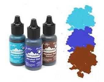 Tim Holtz Adirondack Alcohol Inks 3 Pack Blue Brown Mariner Alcohol Ink Mermaid Teakwood Indigo PREORDER