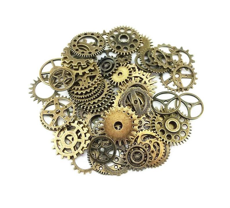 Ogromny Zegar Gears zegar części zegar mechanizm mosiądzu koła zębate | Etsy UB48