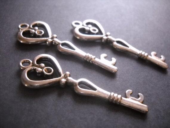 Skeleton Key Pendants Antiqued Copper Keys Steampunk Key Pendant Bulk Skeleton Keys Wholesale Keys 53mm 2 inch Keys 50pcs
