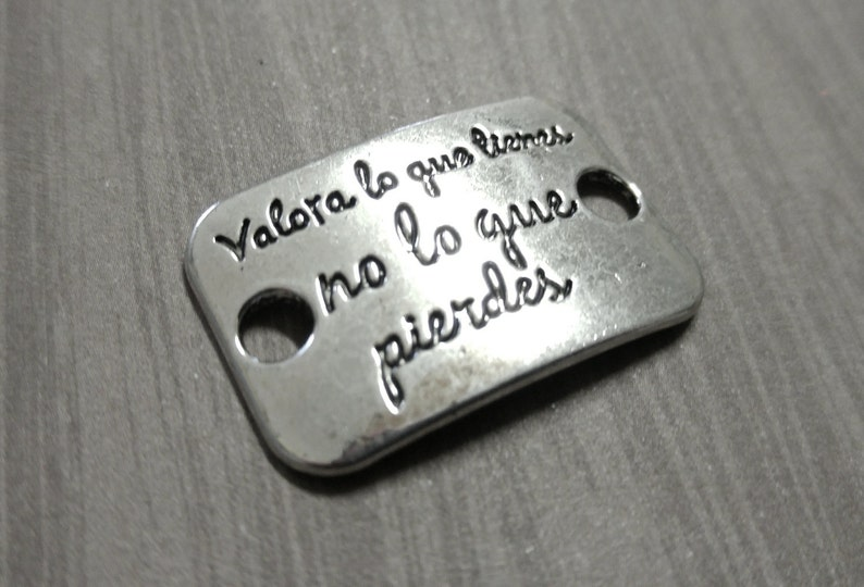 Quote Connector Word Connector Word Band Quote Pendant Spanish Etsy