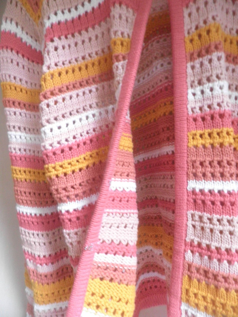 bright colors open-knit Cotton Sweater Women/'s large cardigan sweater