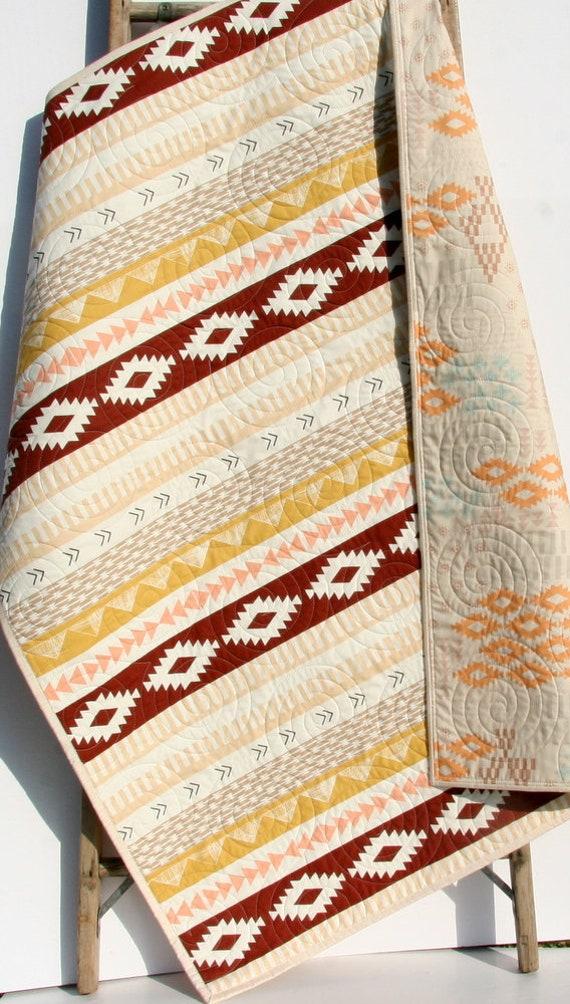 Aztec Crib Bedding Arizona Baby Blanket, Girl Aztec Nursery Bedding