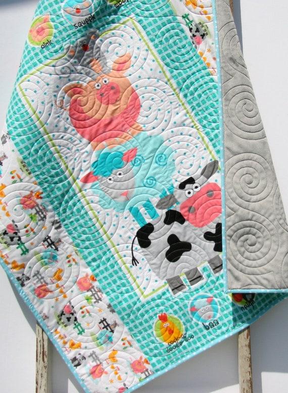 Vache Baby Quilt Ferme Couverture De Fille Fille Literie Pour