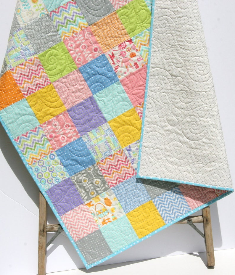 New Baby Gifts Crib Quilt Patchwork Baby Bedding Girls Etsy
