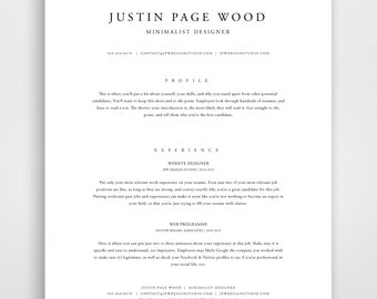 classic resume resume template instant download resume and cover letter template classic modern resume classic cv resume template word