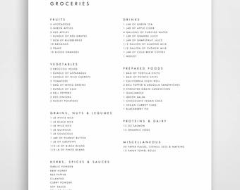 meal planner grocery list shopping list shopping planner etsy