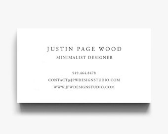 Business card template etsy business card template elegant calling card simple business cards minimalist business card classic business cards editable calling card colourmoves