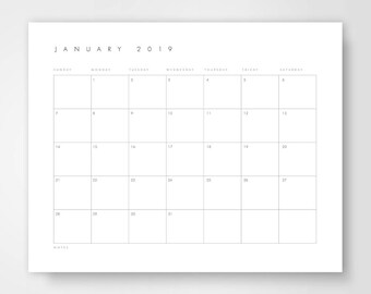 Calendar Template Etsy