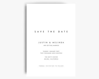 modern save the date etsy