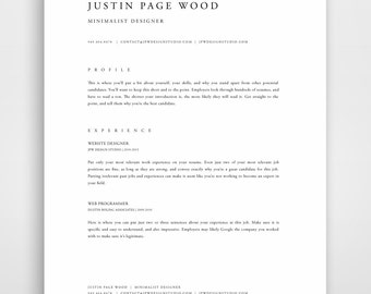 Professional Resume Template, Resume Template Mac, Resume Template Word,  Modern Resume Template, Resume Template Download, Apple Pages