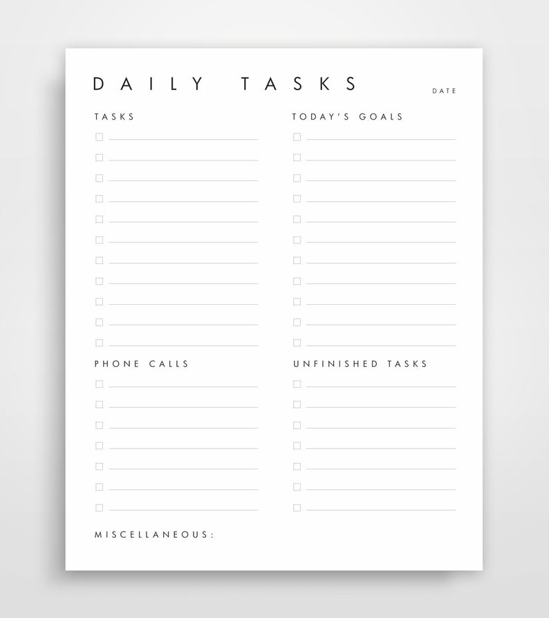 picture about Day Organizer titled Every day Planner, Working day Planner, Workplace Organizer, Place of work Calendar, Immediate Down load, Printable Planner, In the direction of Do Record, Ideal Advertising and marketing Products