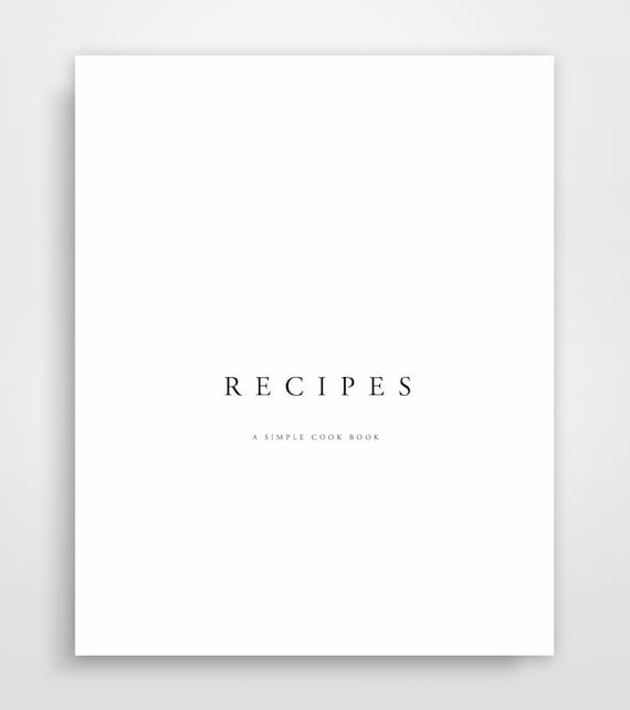 Recipe Binder Recipe Book Recipe Book Template Recipe Etsy