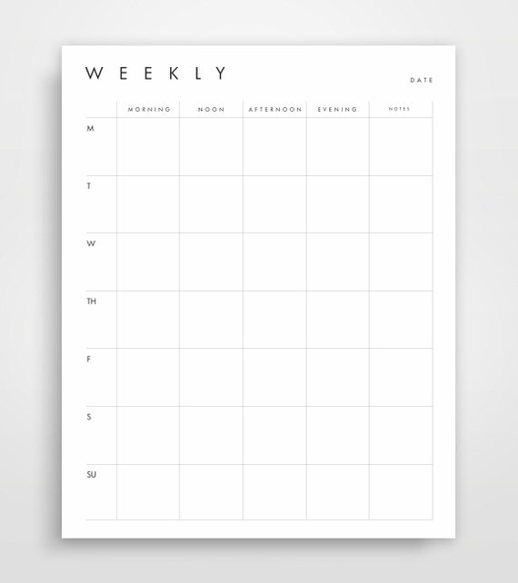 weekly planner business planner printable planner week etsy