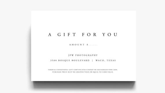 Gift certificate template a gift for you gift voucher etsy image 0 maxwellsz