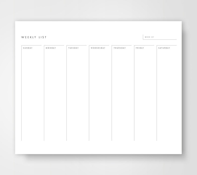 image about Weekly Calendar Printable named Weekly Calendar Printable, Weekly Towards Do Checklist, Weekly Towards Do, 7 days Planner, Times of the 7 days Calendar, 7 days Calendar, 7 days Upon One particular Webpage, Appear