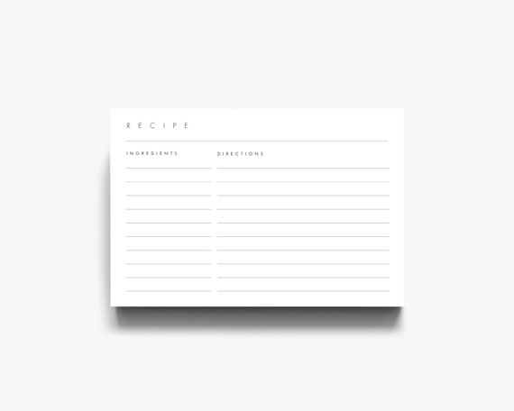 4x6 recipe template 3x5 recipe cards recipe card template