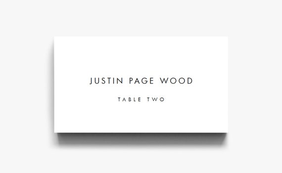 Name card template name cards for wedding table cards place etsy image 0 friedricerecipe Images